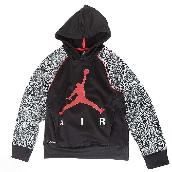 Nike Jordan Big Boys Elefante impresión Therma Fit Sudadera con Capucha, Negro: Amazon.es: Deportes y aire libre