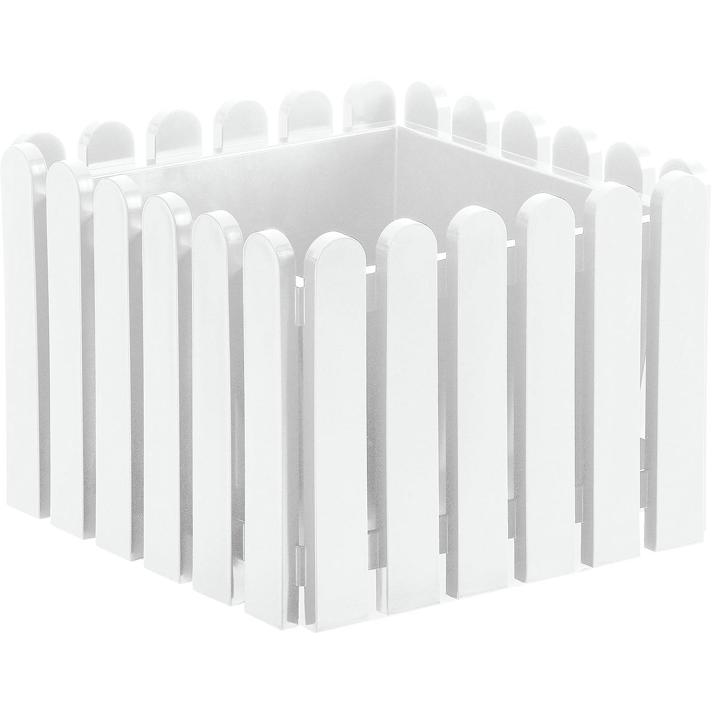 Top Emsa 846381200 Landhaus Blumenkübel 38 x 38 cm weiß: Amazon.de: Garten LK17