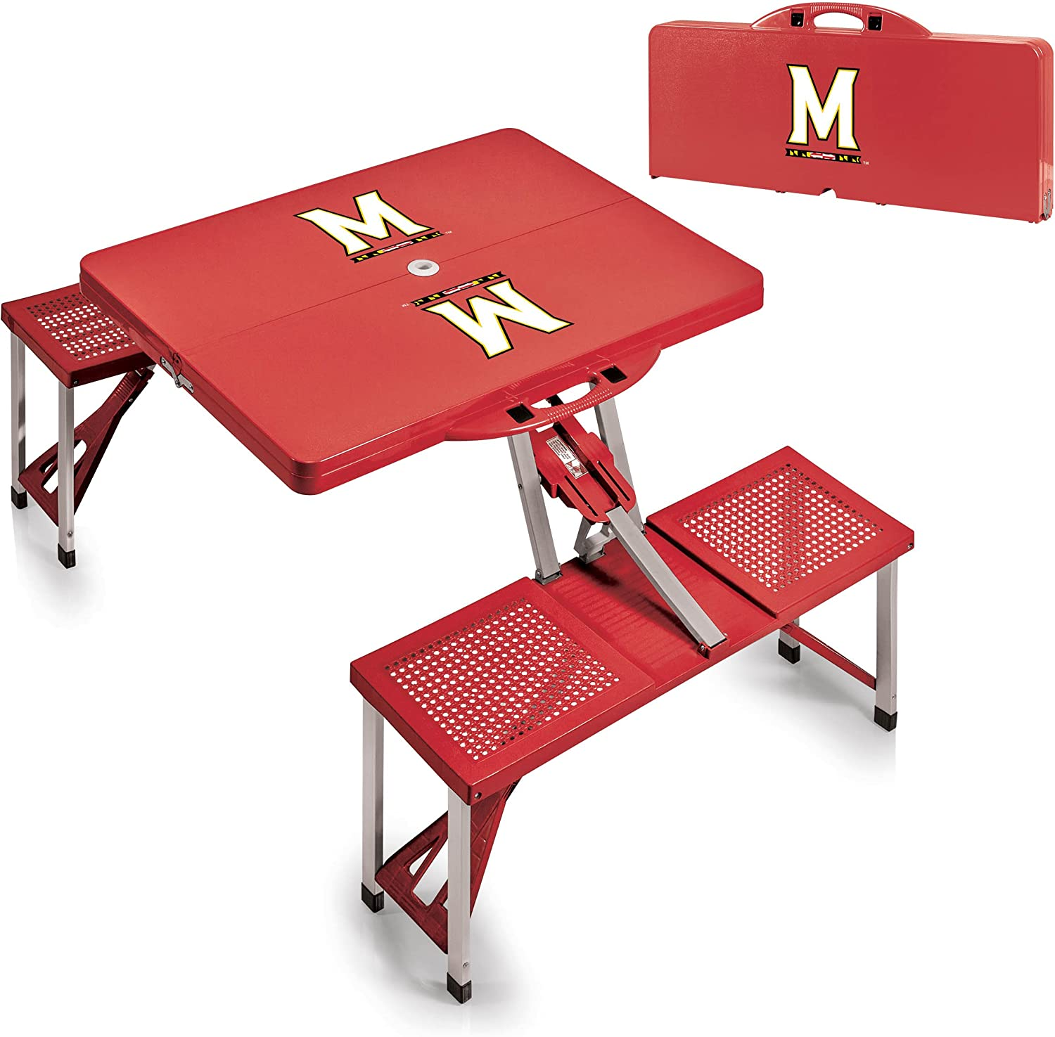 Picnic Time Folding Table Maryland Terrapins