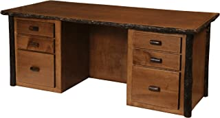 product image for Authentic Natural Hickory Log Executive Desk - Hand Peeled - Custom USA