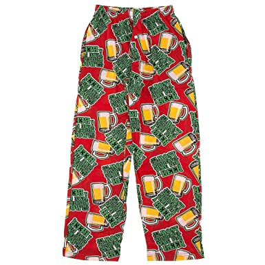 Fun Boxers Red Time for a Beer Christmas Men's Pajama Pants S at ...