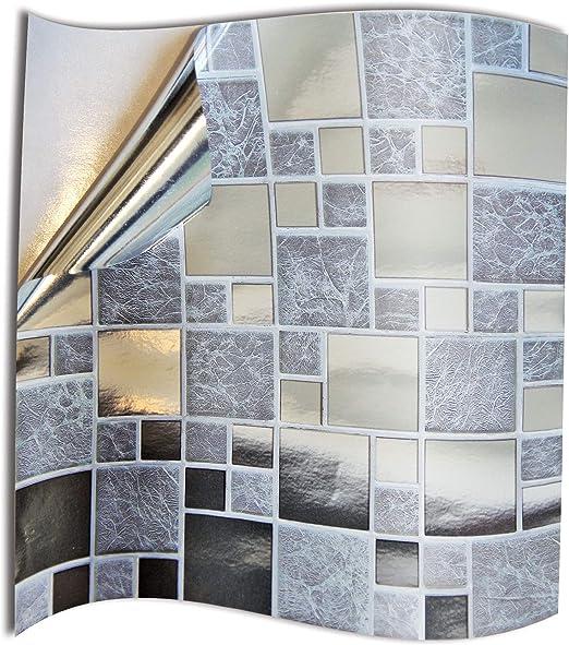 24 stück Fliesenaufkleber für Küche und Bad Mosaik Wandfliese Aufkleber für  10x10cm Fliesen Fliesen-Aufkleber Folie Farbe für Küche u. Bad