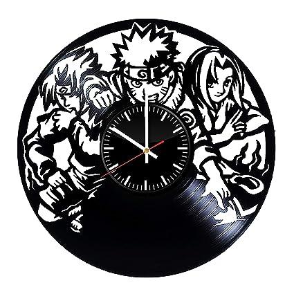 Amazon.com: Naruto Ninja Anime Vinyl Wall Clock - Art Room ...