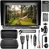 Neewer NW759 Camera Field Monitor Kit:7 inches Ultra HD 1280x800 IPS Screen Field Monitor+F550 Replacement Battery+Micro USB Battery Charger+Carrying Case for Sony Canon Nikon Olympus Pentax Panasonic