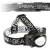 Urban Gear LED Headlamp Flashlight Super Bright Head Lamp for Running, Camping, Hiking, Climbing, Fishing, Hunting…