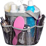 Attmu Mesh Shower Caddy, Quick Dry Shower Tote Bag Oxford Hanging Toiletry and Bath Organizer with 8 Storage Compartments for Shampoo, Conditioner, Soap and Other Bathroom Accessories, Grey