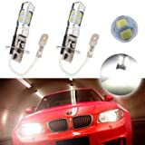 Atpro 2X H3 60W CREE High Power LED Xenon White Fog Light Driving DRL Signal Light Bulb 6000k 10SMD Lamp