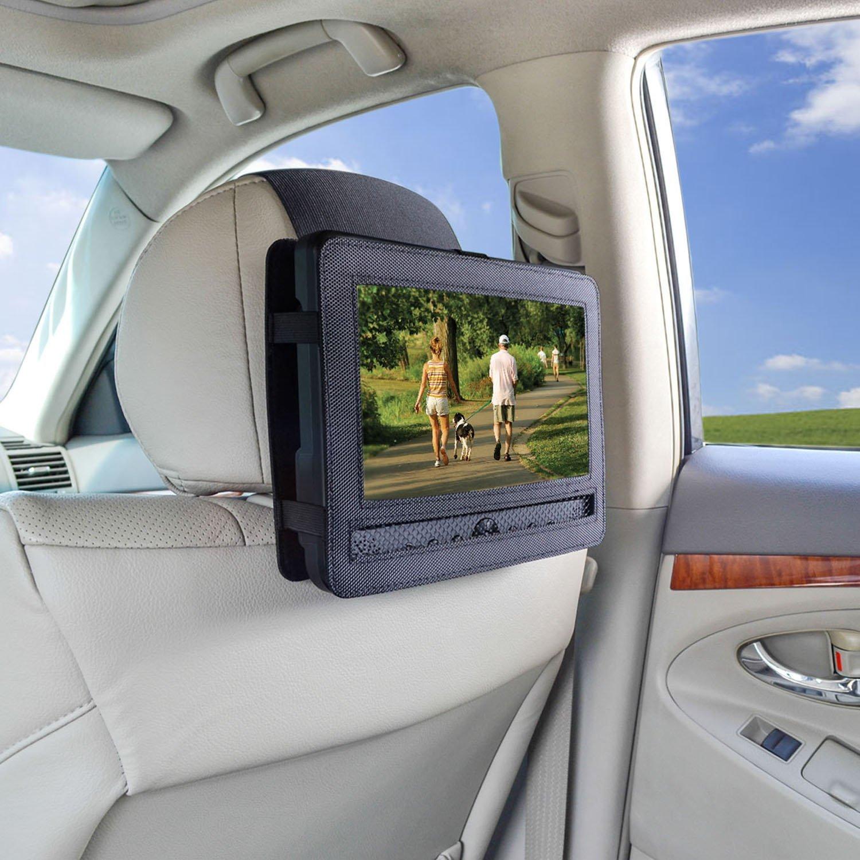 TFY 9mount01 - Soporte de reposacabezas de coche para reproductor de DVD portátil de