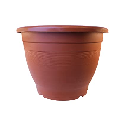 ALEKO PP450TC Terra Cotta Thermoformed Planter Plastic Garden Pots For  Plants And Flowers Large