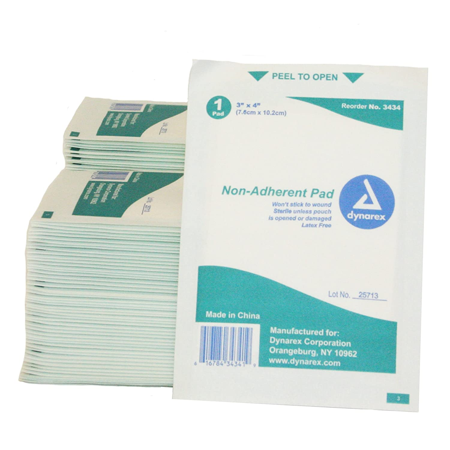 """Nice First Voice TS-3434-100 Mesh Non-Adherent Pads, 3"""" x 4"""", Sterile (Pack of 100)"""