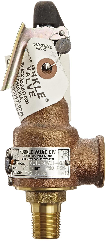 Kunkle Valve 6010Dcv01-Km0150 Safety Relief Valve,1//2 X 3//4 In,150 Psi