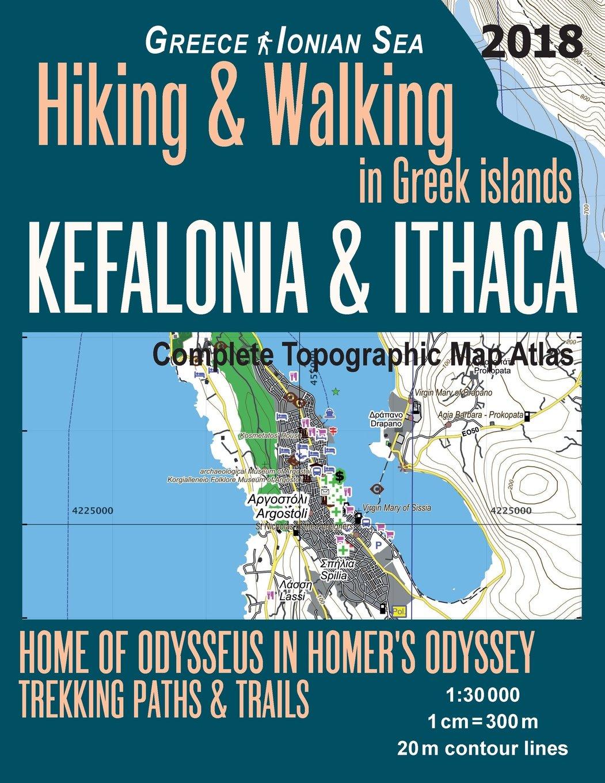 Kefalonia Ithaca Complete Topographic Map Atlas 1 30000 Greece