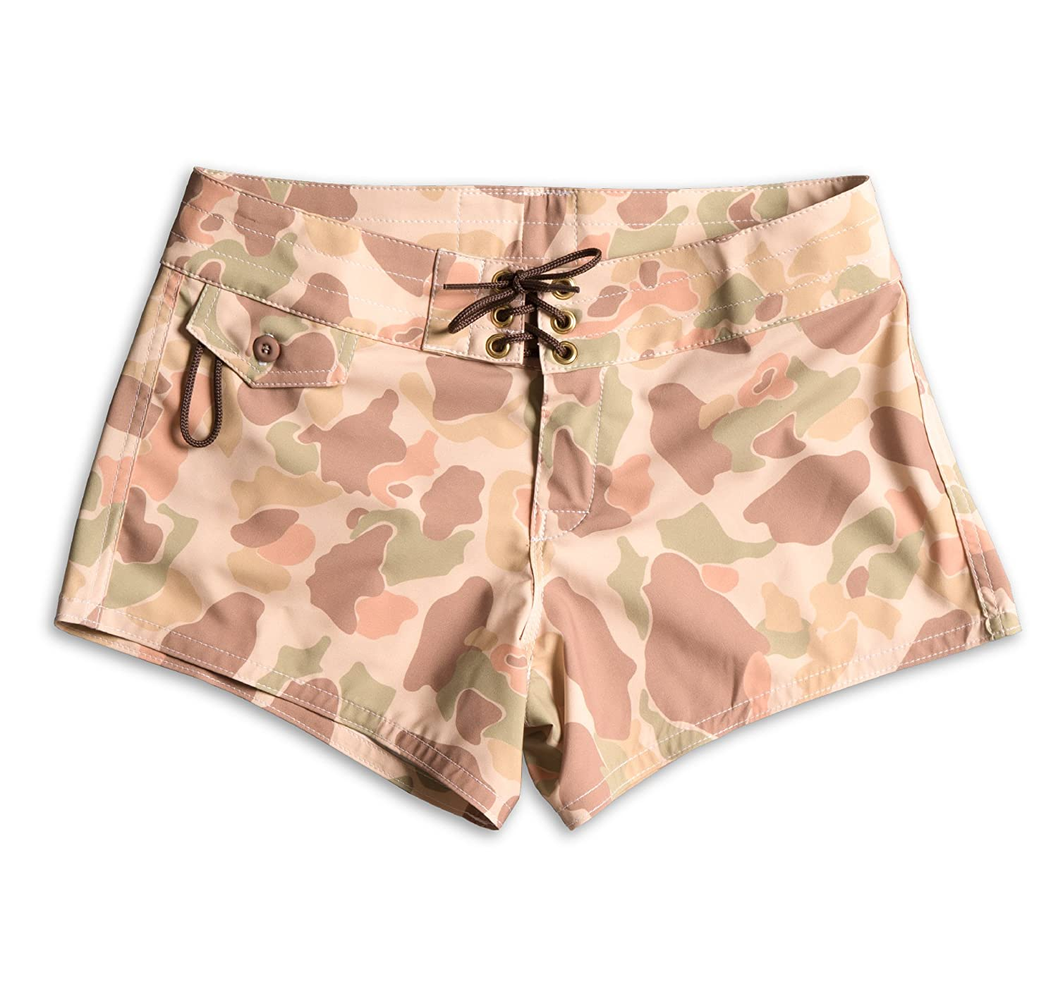 Frogskin Camo Birdwell Women's Stretch Board Shorts  Regular Rise