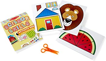 Melissa & Doug Scissor Skills Activity Book (Animal & People Play Set, Pair of Child-Safe Scissors Included, 20 Pages,...