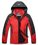 MAGCOMSEN Men's Rain Jacket Long Sleeve Zip Hooded