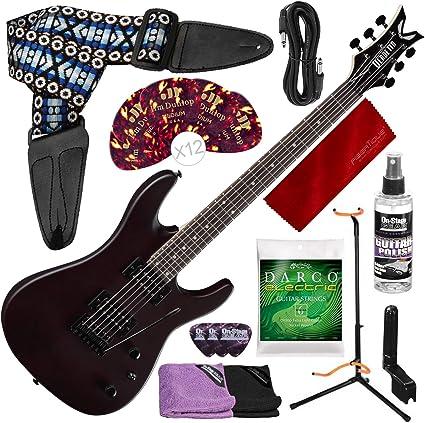 Dean Vendetta XMT Guitarra eléctrica con trémolo, satén natural y ...