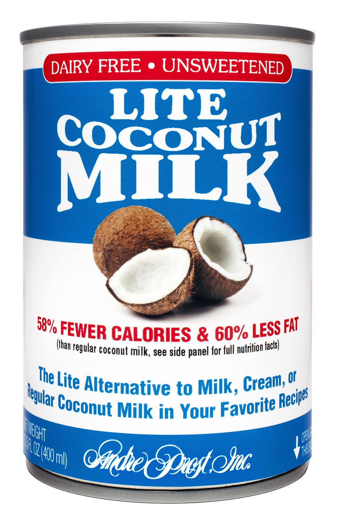 Andre Prost Lite Coconut Milk, 13.5 Ounce Cans (Pack of 12)