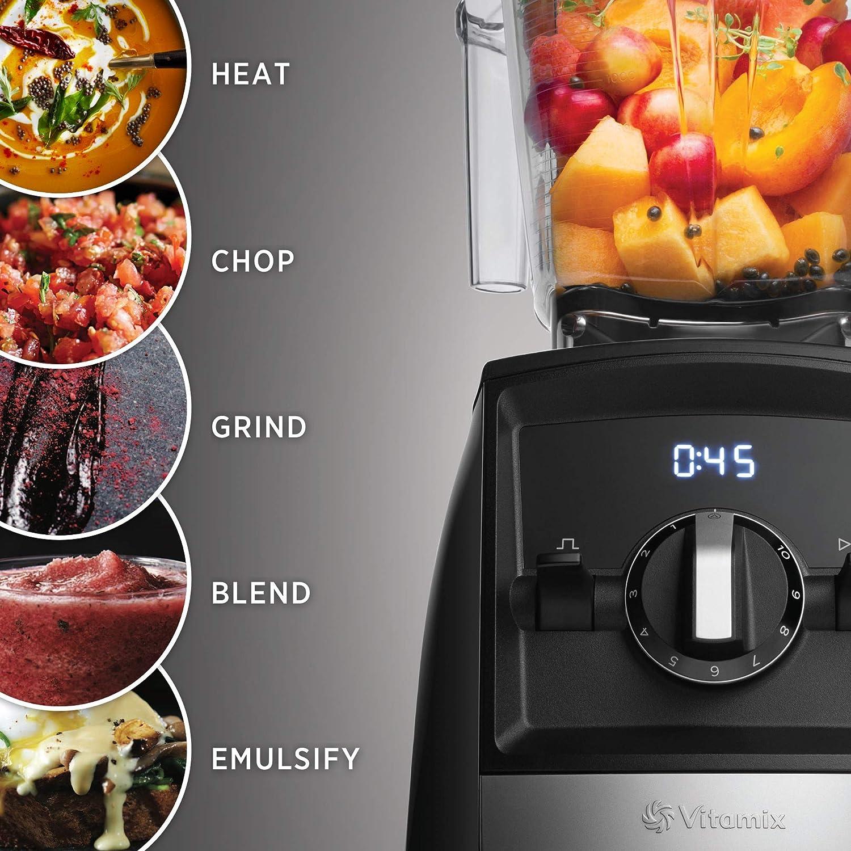 Vitamix A2300 Ascent Series Smart Blender, Professional-Grade, 64 oz. Low-Profile Container, Slate