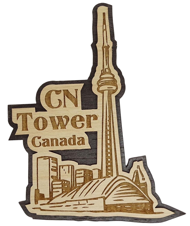 Printtoo Home Decorative Toronto City Souvenir Engraved Wooden Fridge Magnet Collectibles