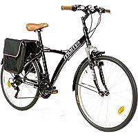 "Moma Bikes Vélo Trekking, HYBRID 26"", Aluminium, SHIMANO 18V, Suspension Avant"