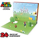 "SUPER MARIO Nintendo Advent Calendar Christmas Holiday Calendar with 17 Articulated 2.5"" Action Figures & 7 Accessories…"