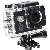 Ultrasport Caméra d'action UmovE HD60 – BASIC Edition avec accessoires, Noir