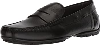 GEOX Men's Moner 2Fit Drivers Loafer (Black)