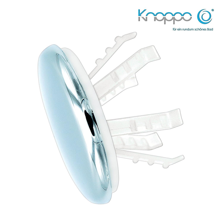 KNOPPO 2er Set Waschbecken Ü berlauf Abdeckung, Clip, Design Ü berlaufblende - Medi Cap (fü r Krankenhä user, Ä rzte und Pflegeeinrichtungen) chrom J&G Solutions