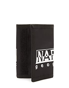 eb7a1fe7db Napapijri Happy Wallet Porte-Monnaie, 27 cm, Noir (Black): Amazon.fr ...