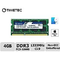 Timetec Hynix IC 8GB DDR3 1333MHz PC3-10600 SODIMM Memory Upgrade For MacBook Pro, iMac, Mac Mini (8GB)