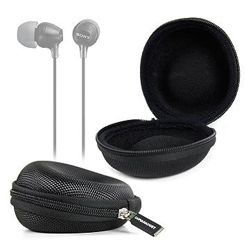DURAGADGET Funda Negra para Auriculares Sony MDR9LPB / MDR-EX110LP ...