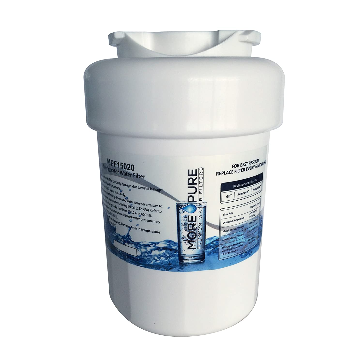 Smart Water Filters Amazoncom Ge Mwf Smartwater Compatible Refrigerator Water Filter