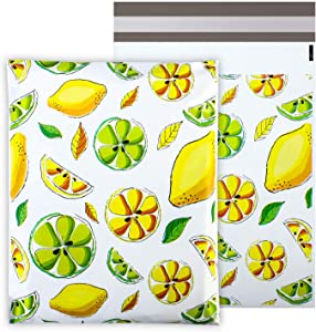 Metronic 100 Pack 10x13 Inch Lemony Shipping Bags Envelopes Poly Mailers with Self Adhesive,Waterproof and Tear-Proof Postal Bags