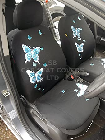 To Fit A Kia Picanto Car Seat Covers Rossini Blue Butterfly Set