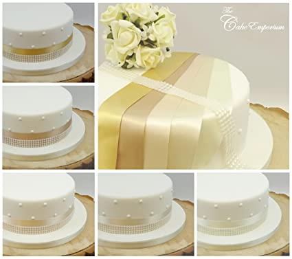 The Cake Emporium Ltd Ruban Satine 1 Metre X 35 Mm Et 4