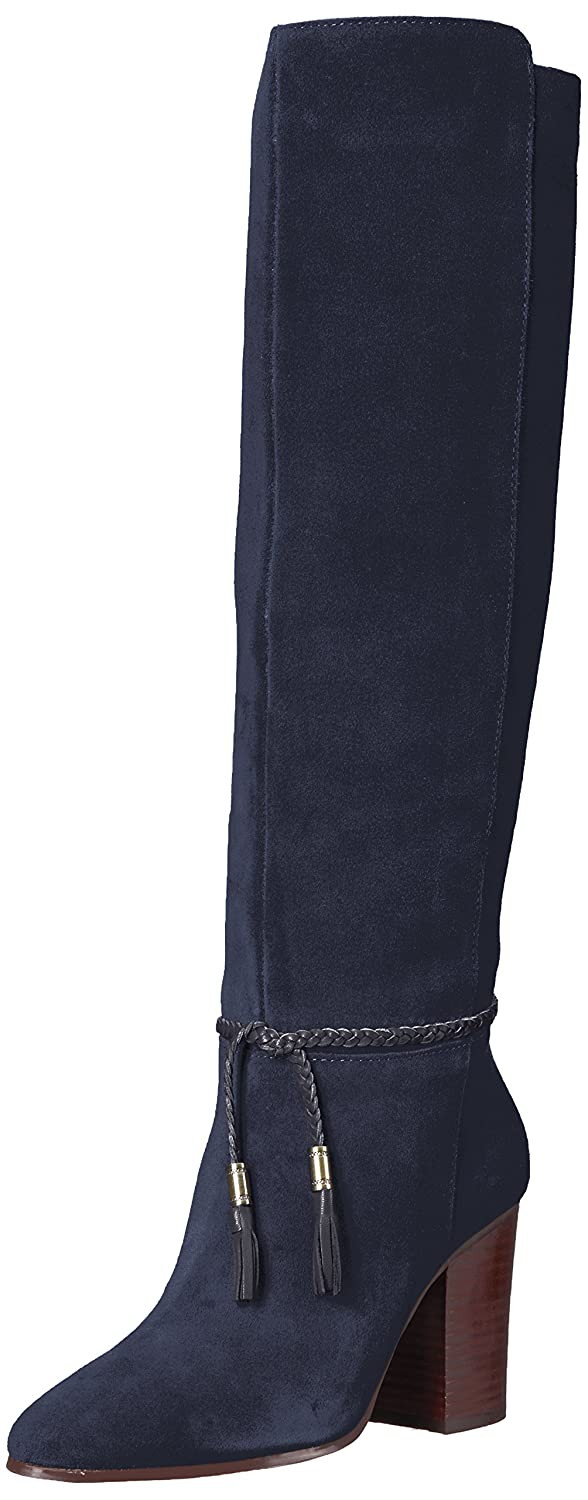 Aerosoles Women's Square Foot Knee High Boot B074GZCH1C 5.5 B(M) US|Navy Suede