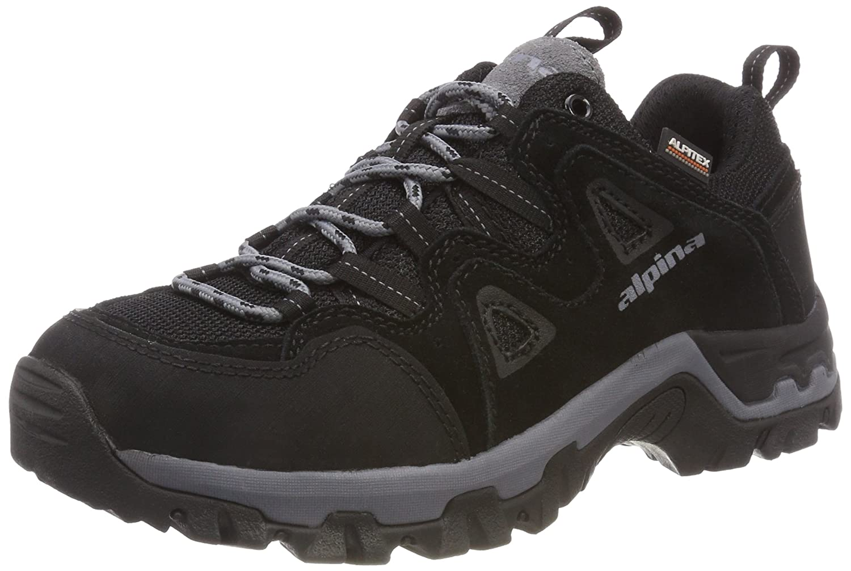 Noir (noir (1)) Alpina 680404, Chaussures de Randonnée Basses Mixte Adulte 40 EU