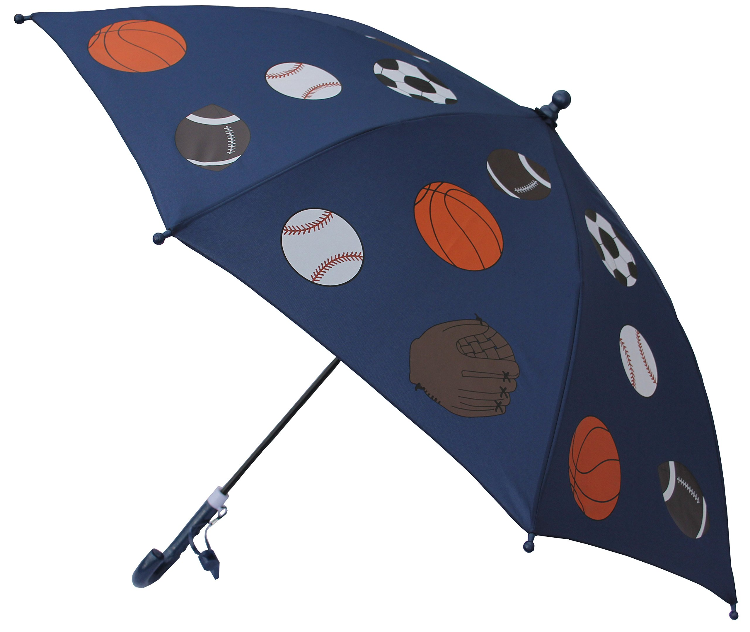 Foxfire for Kids Solid Pattern Umbrella Blue Basketball Football Soccer Baseball
