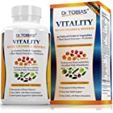 Dr. Tobias Adult Multivitamin - Vitality - Enhanced Bioavailability - With Whole Food & Herbal Ingredients, Minerals and Enzymes - Non-GMO