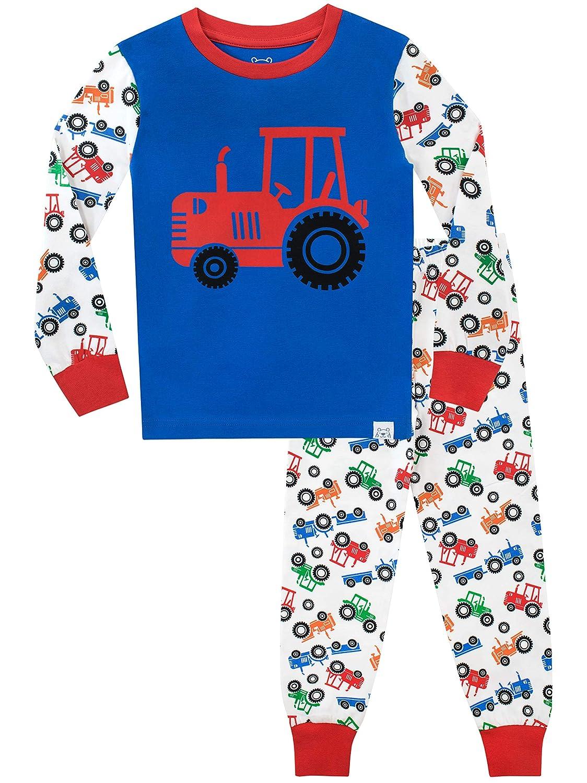 Harry Bear Boys Pyjamas Big Wheel Tractors Snuggle Fit