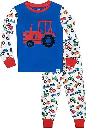 Harry Bear Pijamas de Manga Larga para niños Tractor Ajuste Ceñido Multicolor 4-5 Años: Amazon.es: Ropa y accesorios