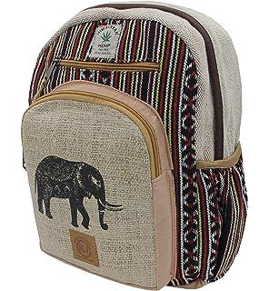 df95653fcda0 KayJayStyles Handmade Natural Hemp Nepal Backpack Purse for Women   Girls  Small Lightweight Daypack