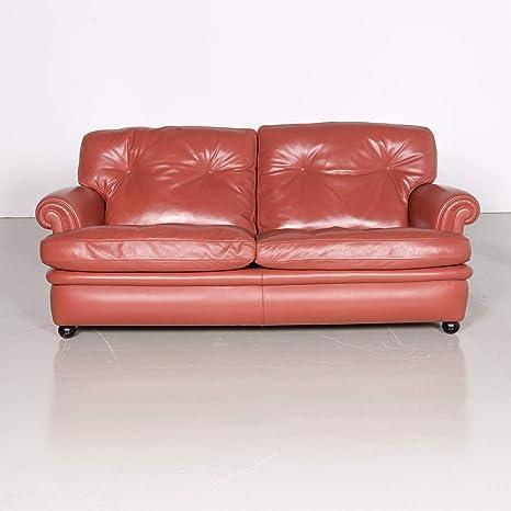 Poltrona Frau Dream On Designer Leder Sofa Orange Zweisitzer Couch ...