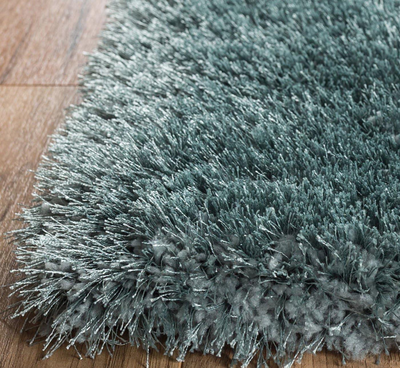 Home Way Premium Quality Blue Super Thick Plush Shag Area Rug 3'3″ X 5' 3