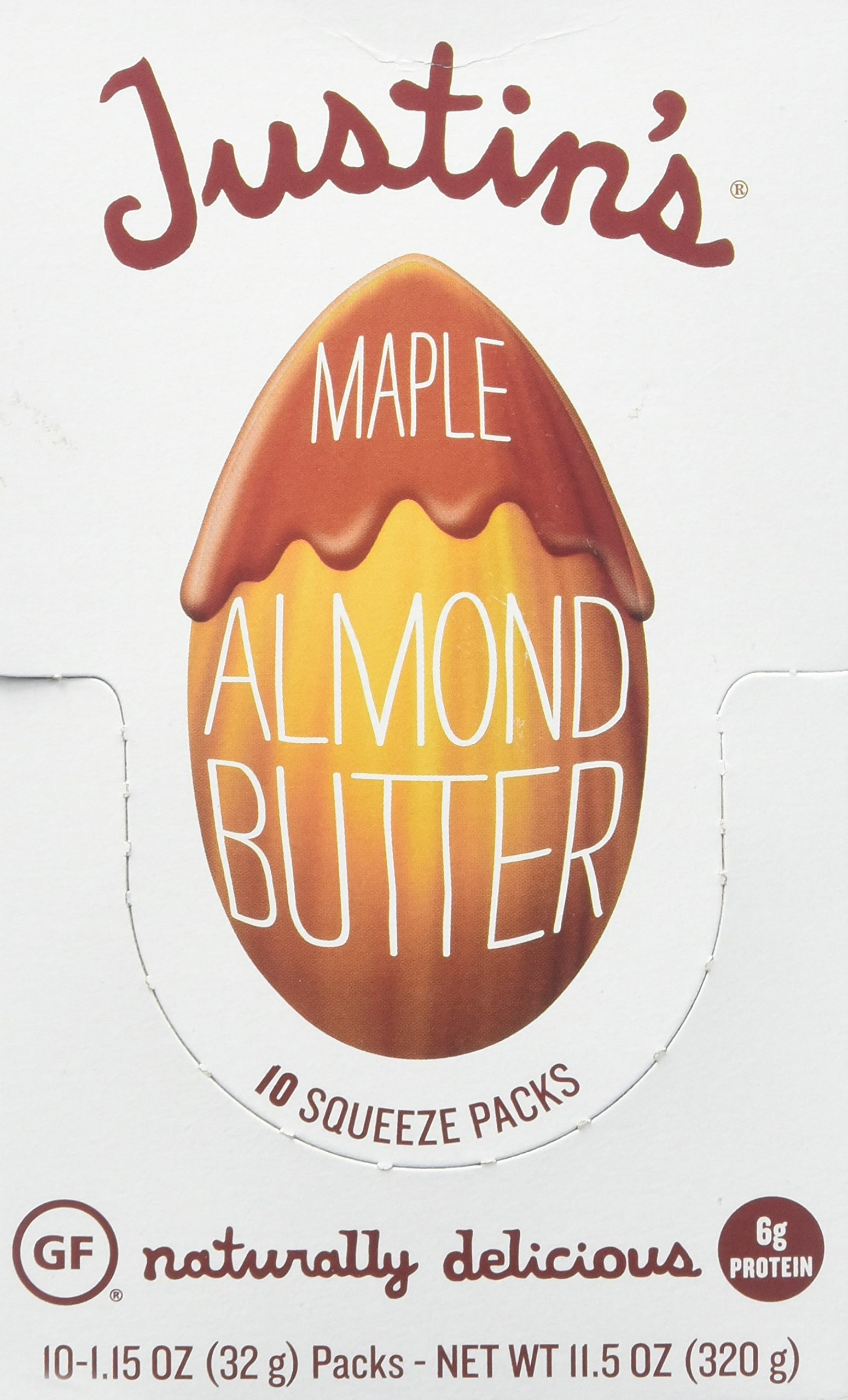Justin's Almond Butter, Maple Squeeze Packs, 1.15 Ounce, 10 Count