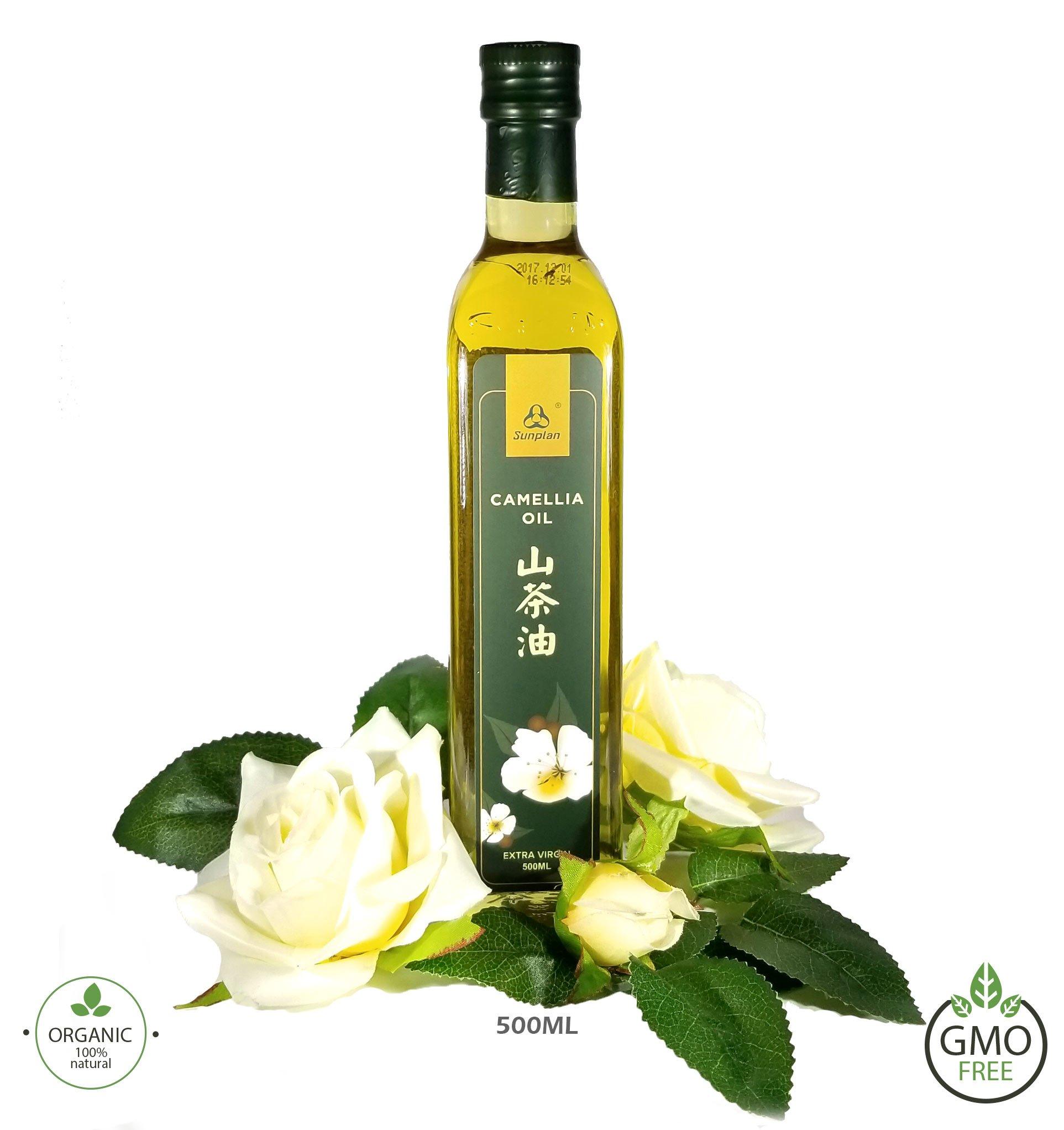 Sunplan Camellia Tea Seed Oil Organic Extra Virgin Cooking Oil (500ml / Bottle)