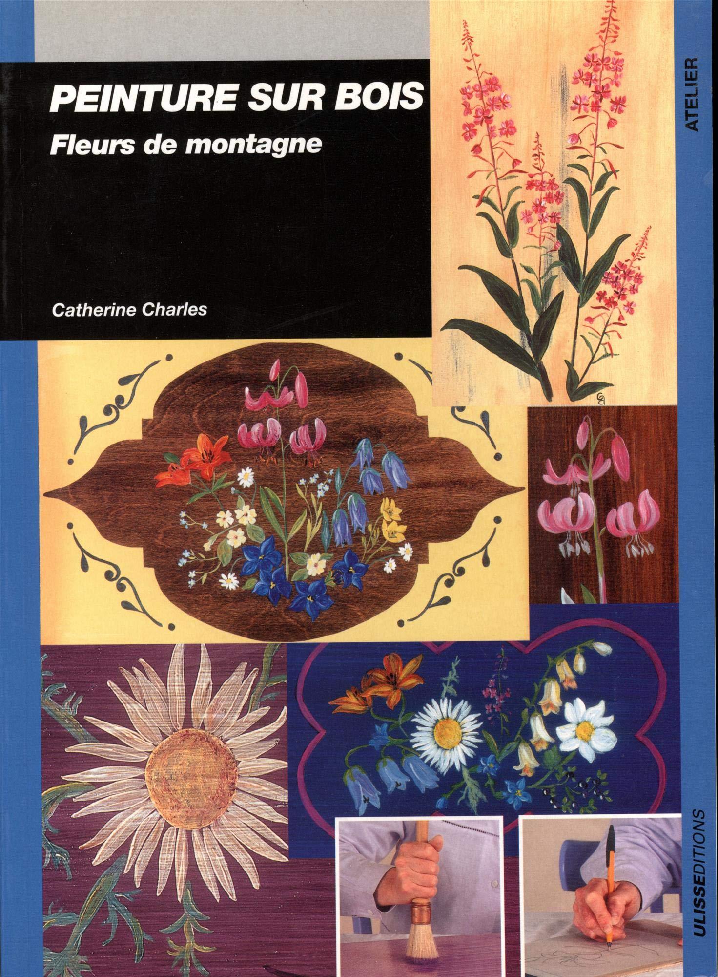Amazon.fr , Peinture sur bois  Fleurs de montagne