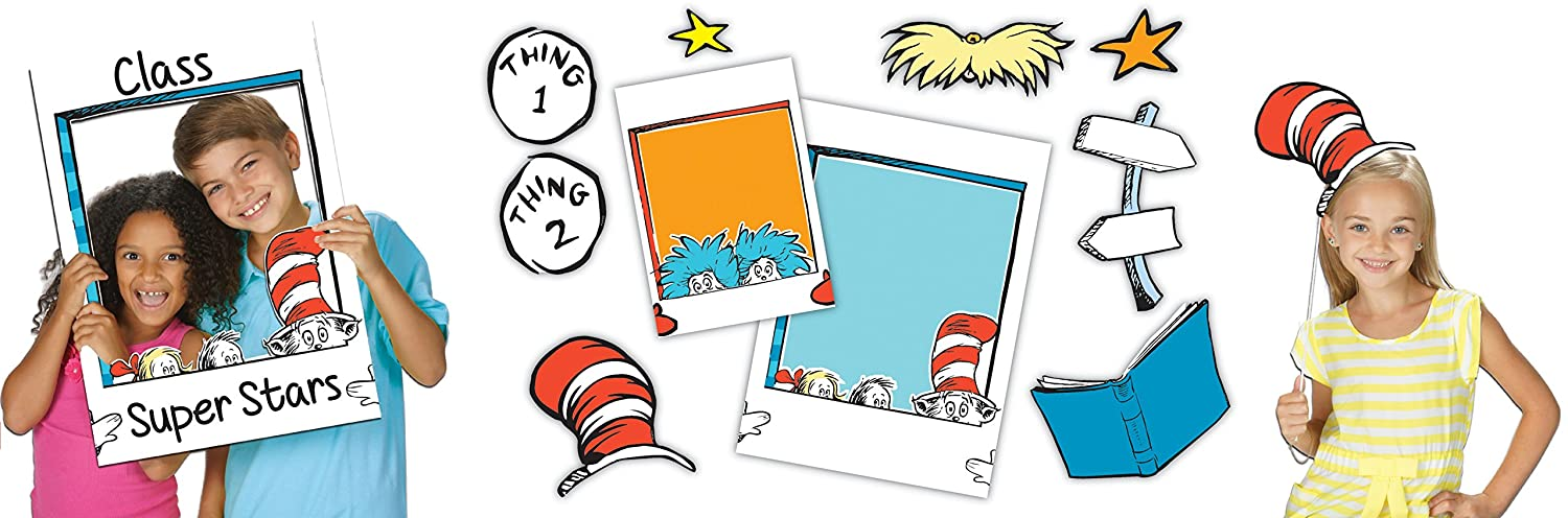 Dr. Seuss School selfies frames