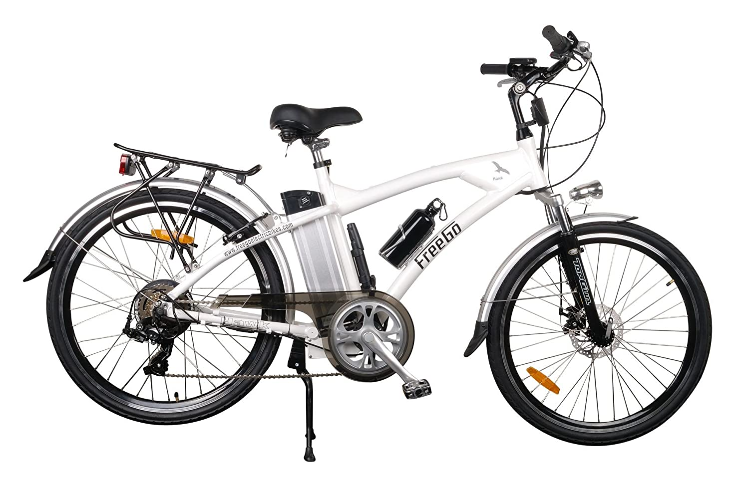 Freego Hawk Road Electric Bike Black 16ah Sports