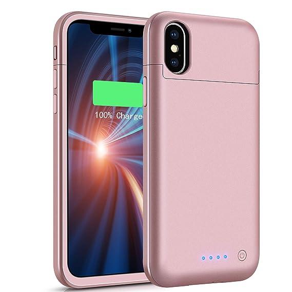 Amazon.com: Funda con batería para iPhone X/XS 3800 mAh ...